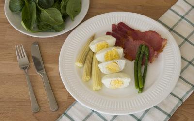 Poached Eggs & Bacon