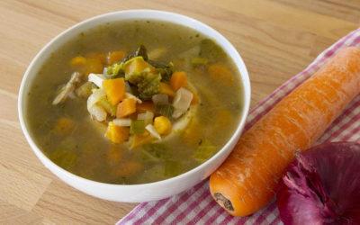 Veg & Chicken soup