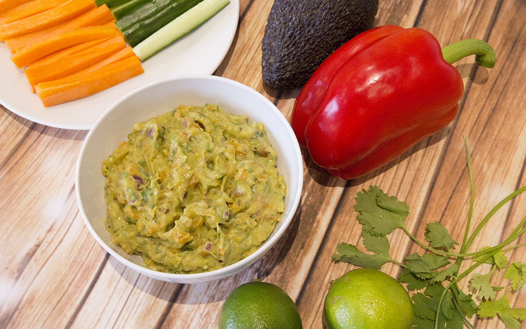 Guacamole with Cucumber & Carrots Sticks